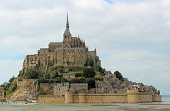 Mont StMichel (big_jeff_leo) Tags: stmichaelsmount montstmichel france castle rock coast abbey monk stone walls towers medieval normandy history heritage ancient old column gothic tidal estuary unesco island