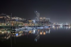 Buenos Aires (karinavera) Tags: travel nikond5300 buenosaires urban night argentina water puentedelamujer puertomadero cityscape longexposure city