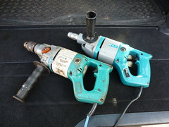 Wolf Sapphire drill & Screwdriver (K Garrett) Tags: wolf power tools drill sapphire screwdriver electric 240 110 volt heavy duty corded vintage tooltime morepower