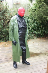 My husband in his outfit, I ordered him. (leathergum) Tags: gummi latex hule rubber elastique fetish fetisch gummistiefel rubberboots rubberwear rainwear raingear regenkleidung gasmaske gasmask mistress gummiherrin gummisklave gummisklavin boots rubbercoat gummimantel waders wathose watstiefel geil kinky horny