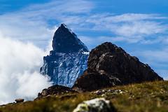 three peaks (LiterallyPhotography) Tags: berg gebirge alpen zermatt gornergrat matterhorn riffelberg marktwain wiese wolken himmel clouds alps mountain peak gipfel