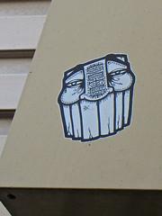 GATS, San Francisco, CA (Robby Virus) Tags: sanfrancisco california sf gats sticker slap graffiti against system art tiki teeth exotic head