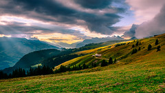 Landscape _ A Point Of View (marco soraperra) Tags: landscape mountains sky clouds sun sunlight nikon nikkor grass hills rock cliff tree trees forest green verde yellow blue sea valley fog misty