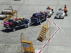 Baggage Handlers (thisisiantan) Tags: baggage handlers perth airport boarding tarmac luggage suitcase amateur raw
