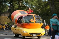 """""""Oh, I wish I was an Oscar Meyer Weiner ..."""" (William & Mary Photos) Tags: select homecoming parade wm wmhc williamandmary williammary collegeofwilliamandmary collegeofwilliammary greenandgold alumni fall"""