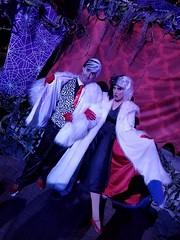 Sean Brown with his muse, Cruella DeVil (Halloween in Oz) Tags: seanbrown cruella maleficent mickeyshalloweenparty2016 halloween halloweencostume