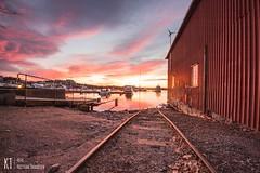 Sunrise Rails (KrishTh) Tags: ifttt 500px kristiansand christiansholm sunrise soloppgang nature festning skuporn