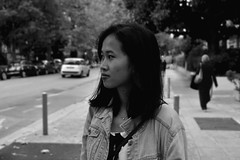 Chhay! (Chlo Pichouron) Tags: france cambodge cambodgienne franaise student tudiante nice niceville pretty girl femme jeune jeunesse free libert libre young smile sourire beau beaut bw black white noir et blanc dream dreams rverie