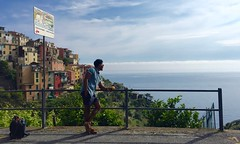 IMG_7461 (TanaPerin) Tags: sea soul pose hill cinque terre water shadow sunset trek lemon colour outdoor sightseeing