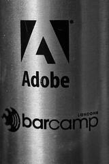 13th MoNovember 16 (cazphoto.co.uk) Tags: monovember monovember16 monochrome blackandwhite nov15 131116 panasonic lumix dmcgh3 panasonic1235mmf28lumixgxvarioasphpowerois metal shiny flask adobe barcamp swag waterbottle