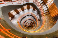 Stairwell - Sprinkenhof Hamburg (lutzp62) Tags: staircase hamburg sprinkenhof vertical indoor