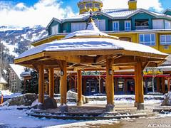 Neve (A.Canina) Tags: neve canada whistler canadian snow white branco ceu azul sky blue shelter cabana kioske quiosque bc columbia british