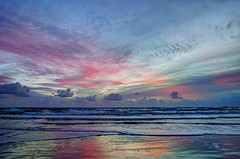 Painted Sky (TaranRampersad) Tags: newsmyrnabeach nsb beach sunrise sunset sun oceanside seaside outside hdr ocean sea atlantic landscape