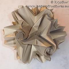 Mountain and Valleys  (K16041) (Origami Spirals) Tags: curler paper fold twirl origami burczyk folding art krysbur