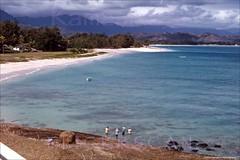 Kailua Beach from Lanikai 1963 (Kamaaina56) Tags: 1960s kailua hawaii oahu beach slide lanikai
