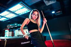 Your Turn (Jon Siegel) Tags: green nikon d810 sigma 24mm 14 sigma24mmf14art sigma24mm14 sigmaartlens woman girl beautiful beauty sexy blonde glasses smile billiards underground night club city urban people chinese chinatown singapore singaporean