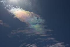 Iridescent clouds (k-o-m-a-n-e-k-o) Tags: brightly colored cloud sky rain iridescent sunshine nikon d750