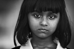eyes (Zuhair Ahmad) Tags: canon 5diii 70200mm portrait eyes girl kid story street makkah saudi arabia black white copyrights zuhair ahmad 2016
