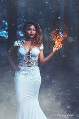 _MG_1803 (BronwynKatzke) Tags: green portrait portaiture prom matric matricfarewell matricdance fireandice fantasy girl offcameraflash snow fire smoke