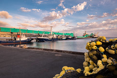 Fortitude (Images by Ann Clarke) Tags: eyrepeninsulafleet wharf boats clouds net portlincoln yellowbuoys