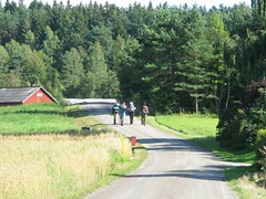 Hikers on Bohusleden trail northwest of Romelanda 2011