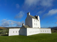Corgarff Castle, Strathdon, Nov 2016 (allanmaciver) Tags: corgarff castle historic scotland jacobites garrison army earl mar mystery battle burnt white walls shine sun november height lecht tower windows gunholes surround allanmaciver