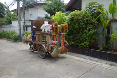 cleaning equipment sales cart (the foreign photographer - ) Tags: dscjul182015sony cleaning equipment brooms feather dusters mops cart soi 65 phahoyolthin bangkhen bangkok thailand sony rx100