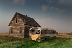 End Of The Line (gerrypocha) Tags: abandoned derelict bus house prairie forgotten summer