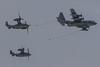 Aerial Refueling (Norman Graf) Tags: green hornets night wings 080038 086202 100056 20sos 2016cannonafbopenhouseandairshow 20thspecialoperationssquadron 27sow 27thspecialoperationswing 9sos 9thspecialoperationssquadron afsoc airforcespecialoperationscommand airshow aircraft airplane bellboeing c130 cv22 cv22b cannonafb cargo commandoii hercules lockheed mc130j osprey plane rotarywingaircraft rotorcraft stol shorttakeoffandlanding tiltrotor transport usaf unitedstatesairforce v22 vtol verticaltakeoffandlanding