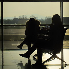 (bobbat) Tags: airport waiting morning light silhouettes