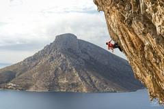 Rotpunkt (dejongbram) Tags: rockclimbing rocks island kalymnos telendos grandegrotta climbing climber nikon 845ultimateline nd8grad greece leadclimb sportclimbing landscape outdoor