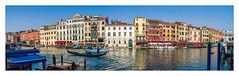 The Grand Canal (Kevin, from Manchester) Tags: adriatic architecture building canals canon1855mm dogespalace gondolas hdr harbour historical italy kevinwalker panorama panoramic photoborder stmarkssquare thegrandcanal venice waterways
