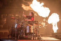 #Repost #Shinedown: Mr. @bkerchofficial doing what he does best... BRINGIN IT... IT being the FIRE Photo by @larnlg (ShinedownsNation) Tags: shinedown nation shinedowns zach myers brent smith eric bass barry kerch