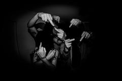 (-: FrendlyFuckFingers :-) (7H3M4R713N) Tags: fujifilm xt1 rokinon8mmf28 flash fisheye humor finger fuck group blackandwhite hands noface blackface monochrome mono manualfocus manuallens manual hb swiss switzerland suisse fuckfinger nohead partytime hyperfocal