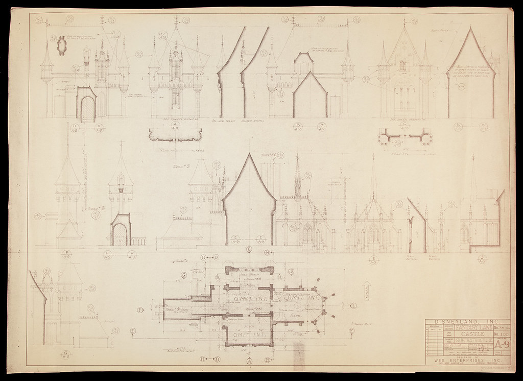 The worlds best photos of blueprint and disneyland flickr hive mind disneylands jericl cat tags sleeping beauty castle disney disneyland 1954 1955 blueprint blueprints malvernweather Images
