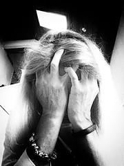 IMG_8719 - Broken (Athtart) Tags: borken december 52in2016 week48 theme broken horsham pa self portrait emotion depressed monochrome bleak womansad