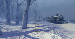Lapland (ChaosFear) Tags: second life virtual snow train luane world choochoo