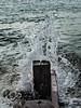 Splash (Caroline Oades) Tags: felpham westsussex england uk groyne seadefence splash water ocean coast seaside sea wood 259366 44 1592016