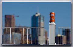 Happy Fence Friday (Jmarie999) Tags: budlight fence beer dof denverskyline broncos