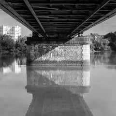 Bridge (s.fleurisson) Tags: architecture loire nantes city pont streetphotography noiretblanc blackandwhite river monochrome ouest france bridge