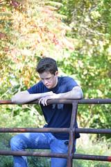 Posing for some shots (Garrett_spiffs) Tags: efd firefighterscott firfighter fireprevention fireawareness longwalk beautiful landscape nature rr railroad railroadtracks abandoned gorgeous sunny daytime uedited 1923 naturewalk nikon nikoncameras camera nikond3200 d3200nikon relaxed casual bluecollar selfportrait portrait naturalpose