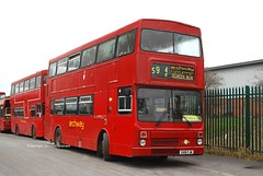 G106FJW Poulton-le-Fylde 23/03/10 (MCW1987) Tags: west midlands travel twm 3106 g106fjw mcw metrobus mk2 mk2a archway