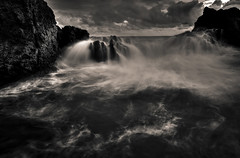Flows (SadAgus) Tags: flow longexposure seascape nikond800 wideangle blackandwhite monochrome landscape breathtakinglandscape indonesia