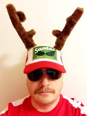 Santa's Flight School (Brian Aslak) Tags: me self autoretrato selfportrait cap antlers moustache sunglasses silly