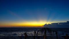 The Blue hour (Akhil Sanjeev) Tags: bluehour sunset twilight alappuzha alleppey kerala beach sea seaside alleppeybeach arabiansea