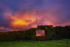 Firewall.!! (nondesigner59) Tags: fiery sunset wall dramatic nature copyrightmmee eos50d nondesigner nd59