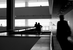 interior with figures, II (donvucl) Tags: bw london interior space figures britishlibrary lightandshade donvucl fujix100s