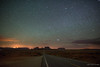 Midnight at Forrest Gump Point (Sergio Garcia Rill) Tags: road arizona panorama usa mountain night stars utah highway sandstone nightscape unitedstates pano panoramic nightsky navajo monumentvalley stagecoach mexicanhat 2014 forrestgump ushighway163 starrynights forrestgumppoint