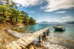 Beauties of Turkey (Nejdet Duzen) Tags: trip travel holiday beach pinetree forest turkey bay boat fishing jetty trkiye iskele sandal koy tatil orman turkei seyahat plaj manisa mula balklk amaac aksaz