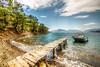 Beauties of Turkey (Nejdet Duzen) Tags: trip travel holiday beach pinetree forest turkey bay boat fishing jetty türkiye iskele sandal koy tatil orman turkei seyahat plaj manisa muğla balıkçılık çamağacı aksaz